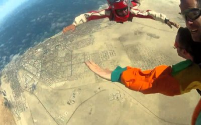 What to do in Namibia – Sky diving antics over the Namib